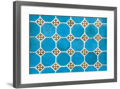 ¡Viva Mexico! Collection - Mosaics Blue Bricks-Philippe Hugonnard-Framed Photographic Print
