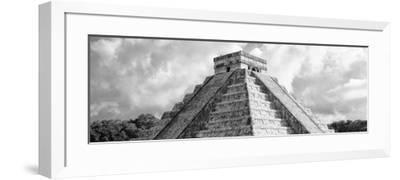 ¡Viva Mexico! Panoramic Collection - El Castillo Pyramid - Chichen Itza II-Philippe Hugonnard-Framed Photographic Print