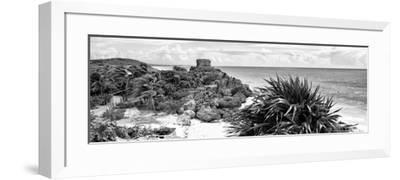 ¡Viva Mexico! Panoramic Collection - Caribbean Coastline in Tulum VII-Philippe Hugonnard-Framed Photographic Print