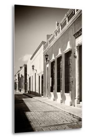 ¡Viva Mexico! B&W Collection - Campeche Street Scene IV-Philippe Hugonnard-Metal Print