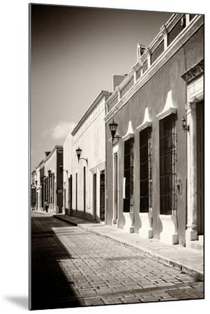 ¡Viva Mexico! B&W Collection - Campeche Street Scene IV-Philippe Hugonnard-Mounted Photographic Print