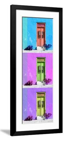 ¡Viva Mexico! Panoramic Collection - Tree Colorful Doors XIV-Philippe Hugonnard-Framed Photographic Print