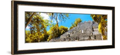 ¡Viva Mexico! Panoramic Collection - Pyramyd of the ancient Mayan City III - Calakmul-Philippe Hugonnard-Framed Photographic Print