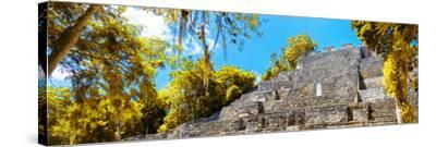¡Viva Mexico! Panoramic Collection - Pyramyd of the ancient Mayan City III - Calakmul-Philippe Hugonnard-Stretched Canvas Print