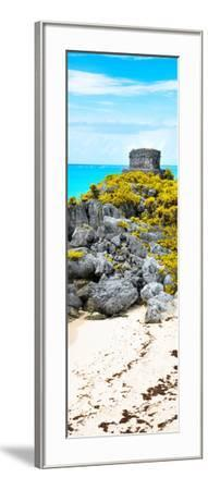 ¡Viva Mexico! Panoramic Collection - Tulum Ruins along Caribbean Coastline III-Philippe Hugonnard-Framed Photographic Print
