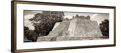 ¡Viva Mexico! Panoramic Collection - Maya Archaeological Site - Campeche I-Philippe Hugonnard-Framed Photographic Print