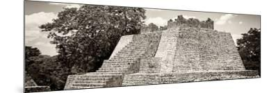 ¡Viva Mexico! Panoramic Collection - Maya Archaeological Site - Campeche I-Philippe Hugonnard-Mounted Photographic Print