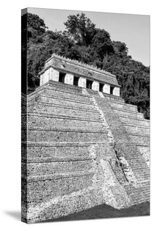 ?Viva Mexico! B&W Collection - Mayan Temple of Inscriptions IX - Palenque-Philippe Hugonnard-Stretched Canvas Print