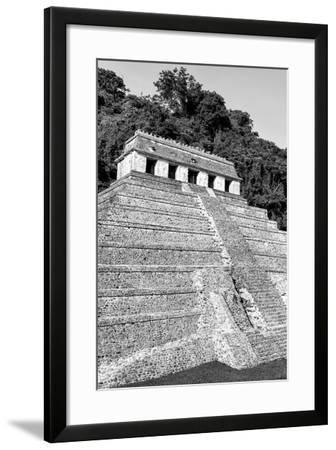 ?Viva Mexico! B&W Collection - Mayan Temple of Inscriptions IX - Palenque-Philippe Hugonnard-Framed Photographic Print