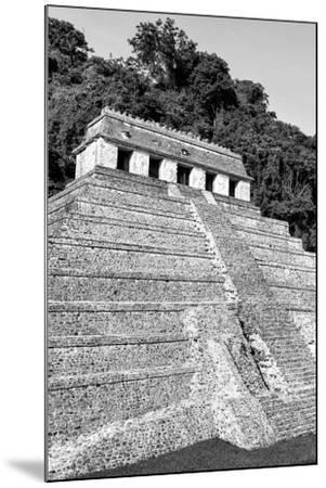 ?Viva Mexico! B&W Collection - Mayan Temple of Inscriptions IX - Palenque-Philippe Hugonnard-Mounted Photographic Print