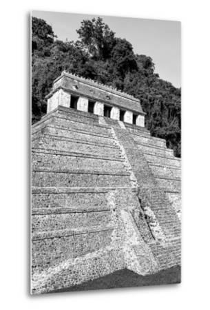 ?Viva Mexico! B&W Collection - Mayan Temple of Inscriptions IX - Palenque-Philippe Hugonnard-Metal Print