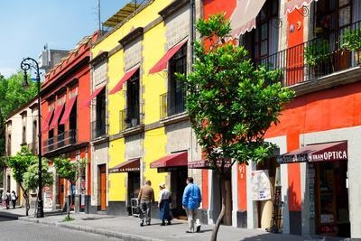 ¡Viva Mexico! Collection - Mexico City Colorful Facades-Philippe Hugonnard-Photographic Print