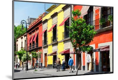 ¡Viva Mexico! Collection - Mexico City Colorful Facades-Philippe Hugonnard-Mounted Photographic Print