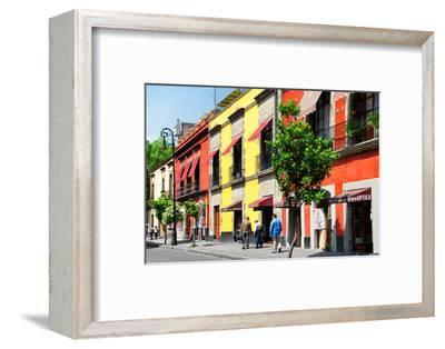 ¡Viva Mexico! Collection - Mexico City Colorful Facades-Philippe Hugonnard-Framed Photographic Print