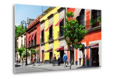 ¡Viva Mexico! Collection - Mexico City Colorful Facades-Philippe Hugonnard-Metal Print