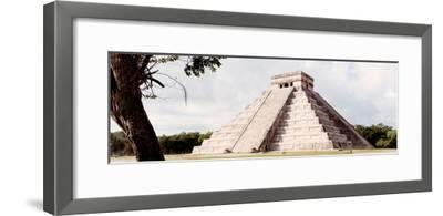 ¡Viva Mexico! Panoramic Collection - El Castillo Pyramid - Chichen Itza XII-Philippe Hugonnard-Framed Photographic Print