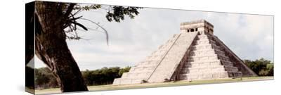 ¡Viva Mexico! Panoramic Collection - El Castillo Pyramid - Chichen Itza XII-Philippe Hugonnard-Stretched Canvas Print