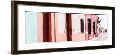 ¡Viva Mexico! Panoramic Collection - Campeche Colorful Street III-Philippe Hugonnard-Framed Photographic Print