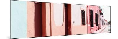 ¡Viva Mexico! Panoramic Collection - Campeche Colorful Street III-Philippe Hugonnard-Mounted Photographic Print