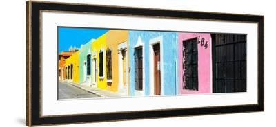 ¡Viva Mexico! Panoramic Collection - Campeche Colorful Street V-Philippe Hugonnard-Framed Photographic Print