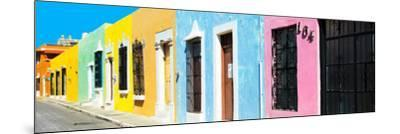 ¡Viva Mexico! Panoramic Collection - Campeche Colorful Street V-Philippe Hugonnard-Mounted Photographic Print