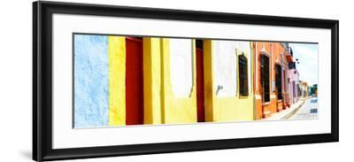 ¡Viva Mexico! Panoramic Collection - Campeche Colorful Street-Philippe Hugonnard-Framed Photographic Print