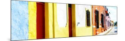 ¡Viva Mexico! Panoramic Collection - Campeche Colorful Street-Philippe Hugonnard-Mounted Photographic Print