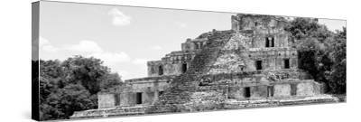 ¡Viva Mexico! Panoramic Collection - Maya Archaeological Site - Campeche V-Philippe Hugonnard-Stretched Canvas Print