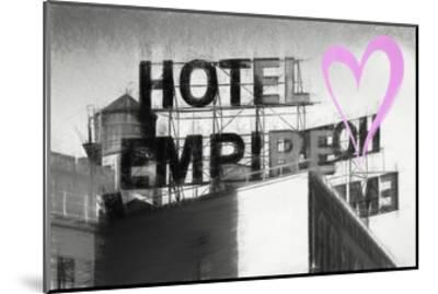 Luv Collection - New York City - Hotel Empire II-Philippe Hugonnard-Mounted Giclee Print