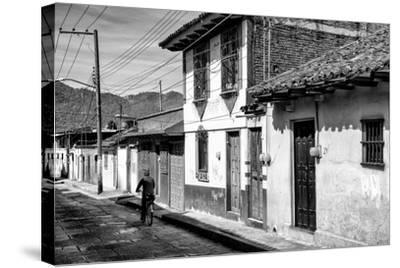 ?Viva Mexico! B&W Collection - Street Scene San Cristobal de Las Casas II-Philippe Hugonnard-Stretched Canvas Print