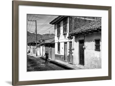 ?Viva Mexico! B&W Collection - Street Scene San Cristobal de Las Casas II-Philippe Hugonnard-Framed Photographic Print