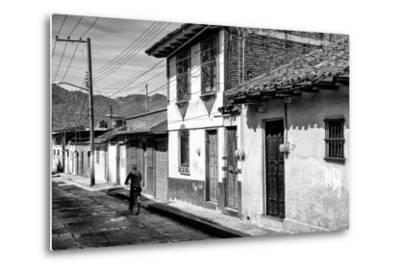?Viva Mexico! B&W Collection - Street Scene San Cristobal de Las Casas II-Philippe Hugonnard-Metal Print