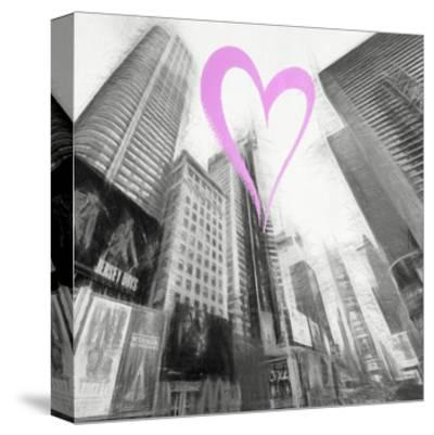 Luv Collection - New York City - Times Square III-Philippe Hugonnard-Stretched Canvas Print
