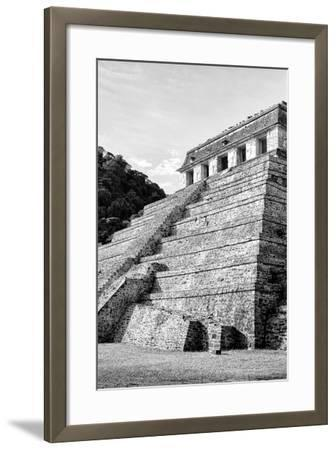 ?Viva Mexico! B&W Collection - Mayan Temple of Inscriptions III - Palenque-Philippe Hugonnard-Framed Photographic Print