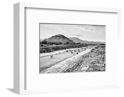 ¡Viva Mexico! B&W Collection - Teotihuacan Pyramids-Philippe Hugonnard-Framed Photographic Print
