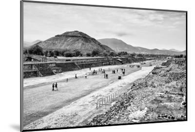 ¡Viva Mexico! B&W Collection - Teotihuacan Pyramids-Philippe Hugonnard-Mounted Photographic Print