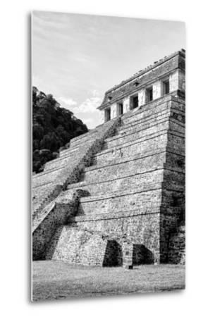?Viva Mexico! B&W Collection - Mayan Temple of Inscriptions III - Palenque-Philippe Hugonnard-Metal Print