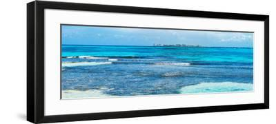 ¡Viva Mexico! Panoramic Collection - Caribbean Coastline overlooking Cancun-Philippe Hugonnard-Framed Photographic Print