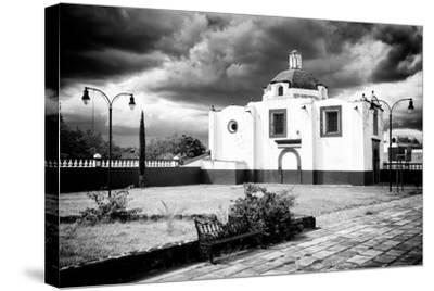 ?Viva Mexico! B&W Collection - Traditional Mexican Church II-Philippe Hugonnard-Stretched Canvas Print
