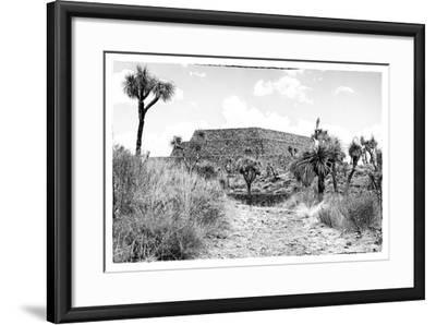 ¡Viva Mexico! B&W Collection - Pyramid of Cantona-Philippe Hugonnard-Framed Photographic Print