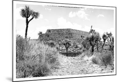¡Viva Mexico! B&W Collection - Pyramid of Cantona-Philippe Hugonnard-Mounted Photographic Print