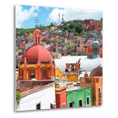 ¡Viva Mexico! Square Collection - Guanajuato Colorful City V-Philippe Hugonnard-Metal Print