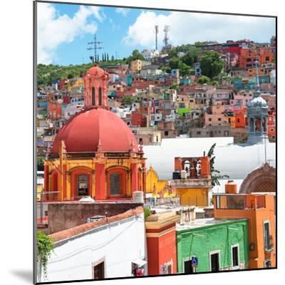 ¡Viva Mexico! Square Collection - Guanajuato Colorful City V-Philippe Hugonnard-Mounted Photographic Print