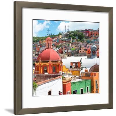 ¡Viva Mexico! Square Collection - Guanajuato Colorful City V-Philippe Hugonnard-Framed Photographic Print