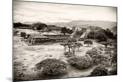 ¡Viva Mexico! B&W Collection - Monte Alban Pyramids VII-Philippe Hugonnard-Mounted Photographic Print