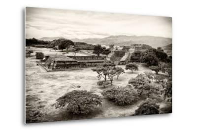 ¡Viva Mexico! B&W Collection - Monte Alban Pyramids VII-Philippe Hugonnard-Metal Print