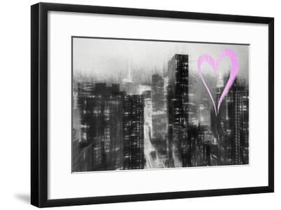 Luv Collection - New York City - Manhattan by Night-Philippe Hugonnard-Framed Giclee Print