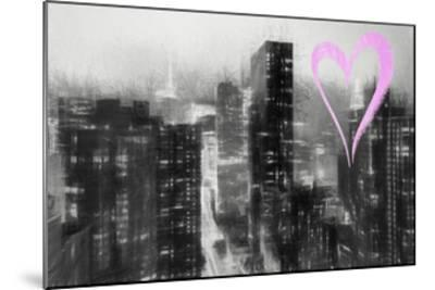 Luv Collection - New York City - Manhattan by Night-Philippe Hugonnard-Mounted Giclee Print