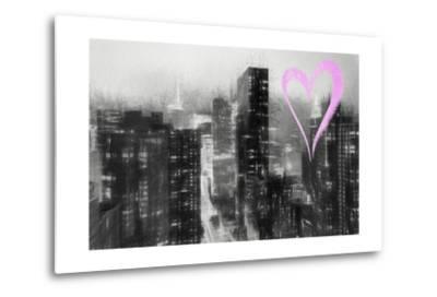 Luv Collection - New York City - Manhattan by Night-Philippe Hugonnard-Metal Print