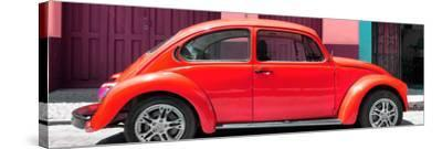 ¡Viva Mexico! Panoramic Collection - The Red Beetle Car-Philippe Hugonnard-Stretched Canvas Print